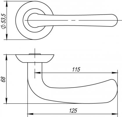 Ручка раздельная SIMFONIA TL ABG-6 PUNTO