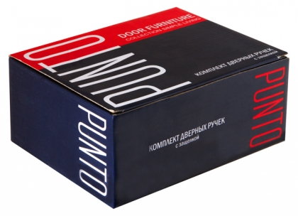 Ручка защелка 6020 CP-E (кл./фик.) PUNTO