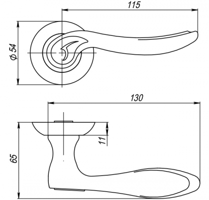Ручка раздельная ONDA TL SN/CP-3 PUNTO