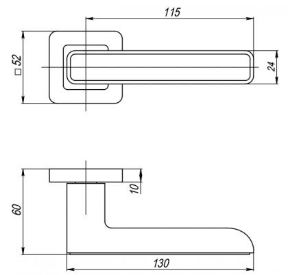 Ручка раздельная MARS QR GR/CP-23 PUNTO
